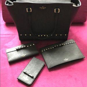 ✨ kate spade hadlee crystal bow handbag